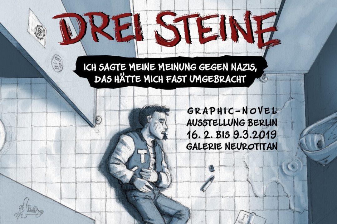 """Kampagne für """"Drei Steine""""-Ausstellung"""